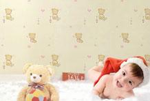 趣味萌系儿童墙纸 贴出可爱儿童房
