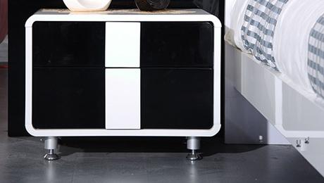 【圣卡纳】钢琴烤漆床头柜