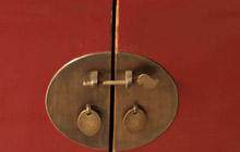 门锁,纯铜打造做旧复古