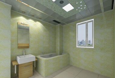 新中式厕所扣板贴图