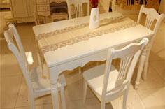 居美印尚 韩式白色餐桌