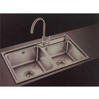 欧琳水槽  不锈钢双槽JBS2T-OLCT312+龙头OL6301