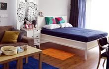 超牛!1万改造22平老房 卧室客厅一体化