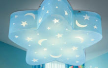 蓝色柔和光源星星吸顶灯