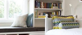 飘窗巧妙改造书柜 营造读书小角落