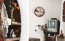 旧木桶变身墙面装饰置物架