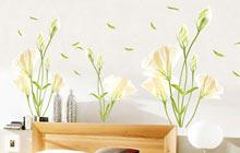 清雅浪漫的卧室墙贴 让人惊艳的效果