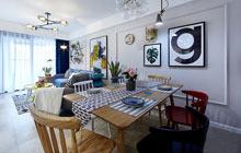 90平混搭风格两居室装修 不一样的美感