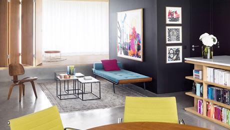 混搭风格小户型公寓装修设计 地台分隔空间