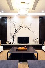 中式电视背景墙图片