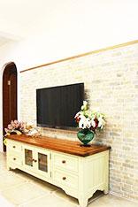 温馨田园电视背景墙