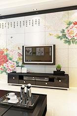 瓷砖电视背景墙图片