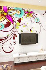 电视手绘墙设计图