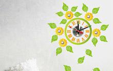创意时钟设计 12款时钟手绘墙效果图