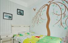 树枝爬上墙 18款唯美手绘墙设计图