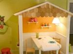 2、梦幻灯光下的儿童书房