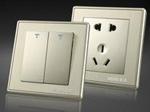 2、水电定位,带开关的插座
