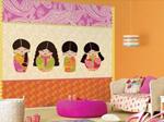 2、剩余壁纸可用于墙面装饰