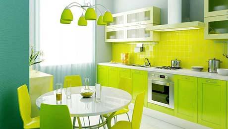 绿色自然清新厨房
